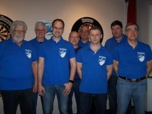 v.l.n.r. Klaus Glaesner (1.Vorsitzender), Christian Rohner (Geschäftsführer), Werner Küster (Beisitzer), Horst Trölsch (Beisitzer), Martin Wilk (2.stellv. Vorsitzender), Peter Götze (Schatzmeister), Rüdiger Dietrich (1. Stellv. Vorsitzender).